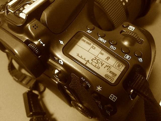 Canon(キヤノン)EOS70Dのサブ液晶パネル