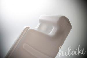 人気のセラミックファンヒーター(シャープのHX-F120-W)の加湿器用給水タンクの取っ手部分