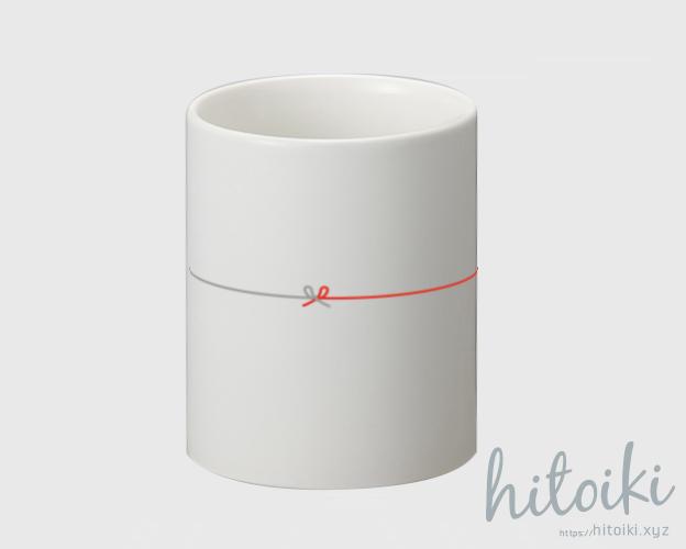 白色マグカップ(縁結び・贈り物・ギフト・プレゼント・お祝い用)フロント