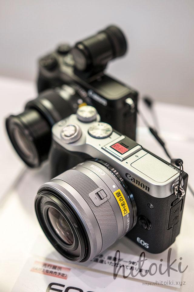 Canon(キヤノン)EOS M6の外観(ブラック・シルバー)