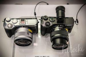 Canon(キヤノン)EOS M6の外観(ブラック・シルバー)上部から見た写真