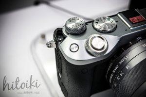Canon(キヤノン)EOS M6の外観(ブラック・シルバー)操作ダイヤルの拡大