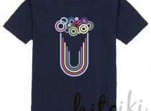 Tシャツ(ポールスミス風マルチストライプ・マルチカラーシャツ。ビールがモチーフ)