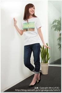 Tshirt_s_woman1(サイズ感の見本)