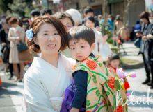 岐阜県大垣市のお稚児さん行列の準備(衣装に着替えた。行列更新。)