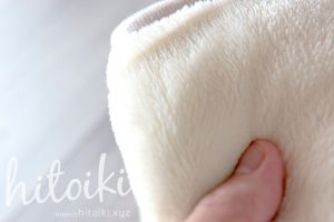 ニトリの毛布の質感と保温性 nitori_electricbeddingblanketimg_3559