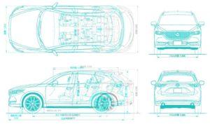 CX-8とハリアー、CX-5、MPVの外観図や四面図(4面図)の違いを比較して、まとめた!