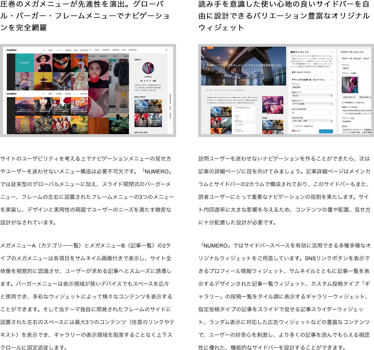 画像レタッチ機能を搭載したギャラリー型ブログテーマ(WPテーマ、ワードプレステーマ) wordpress_free_themes_tcd070_04