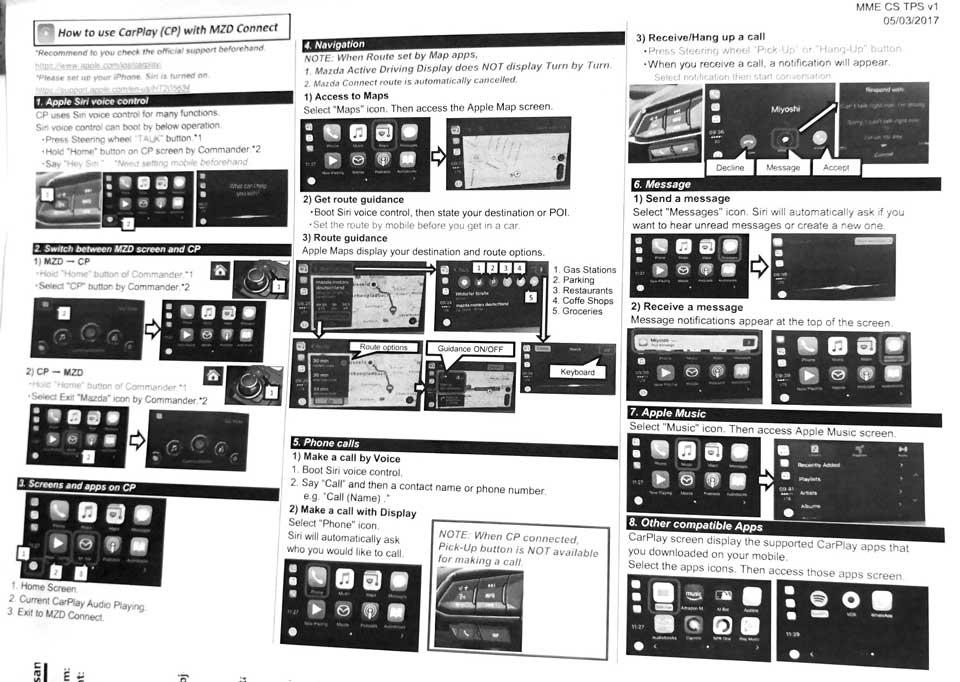 マツダコネクトがカープレイやアンドロイドオートに対応!取り付け方法や操作方法の写真 mazda_carplay_androidauto_1