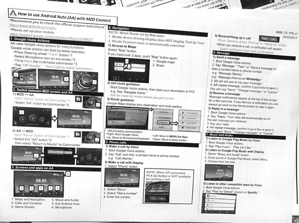 マツダコネクトがカープレイやアンドロイドオートに対応!取り付け方法や操作方法の写真 mazda_carplay_androidauto_3