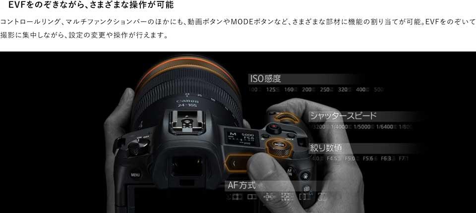 キヤノンの新型フルサイズミラーレスカメラ EOSRのスペックや特徴、新機能などをまとめた canon_eos_r_14