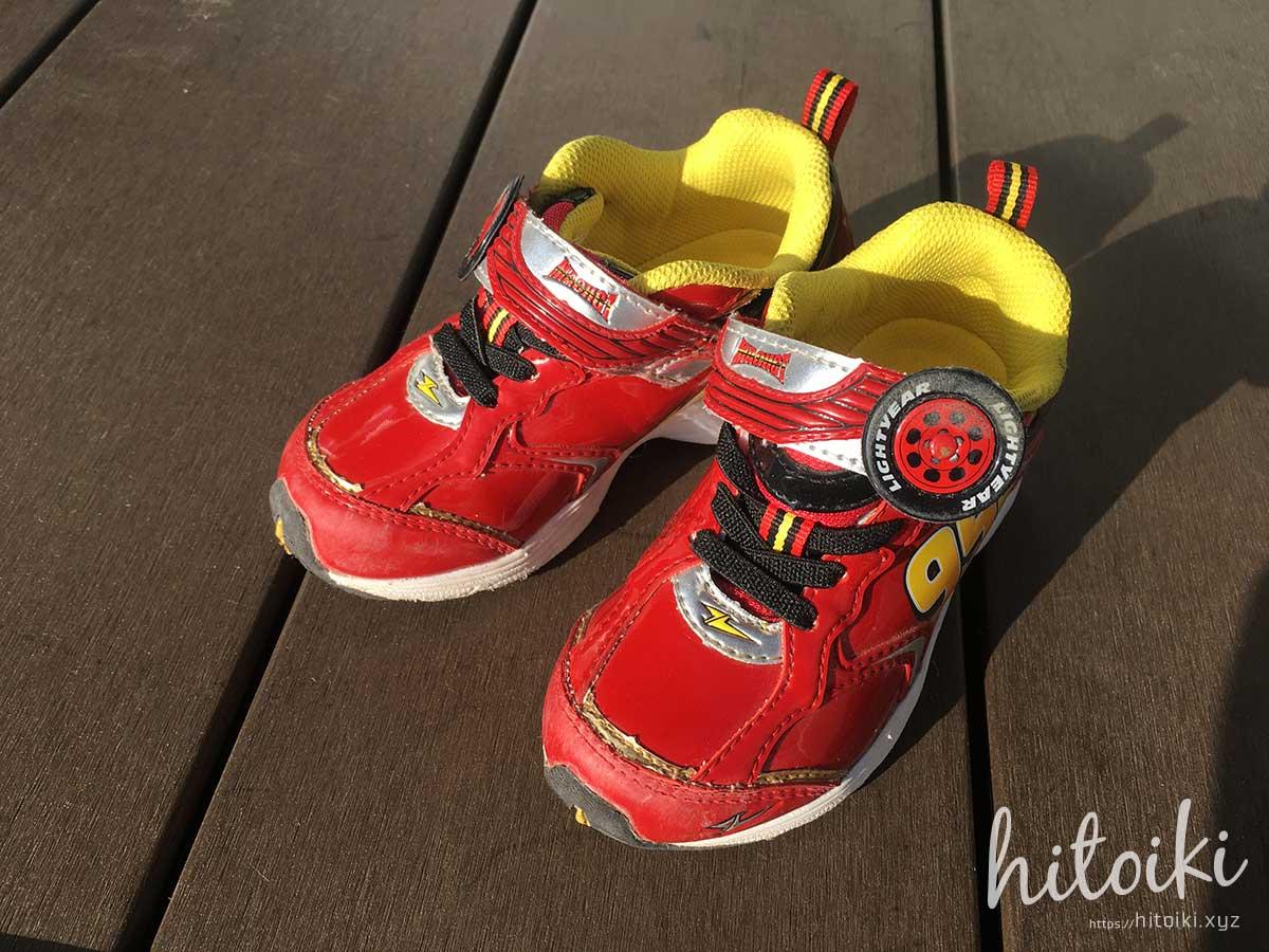 ABC-MART キッズシューズ 幼稚園や保育園でもOKな、赤色のキャラ無し人気靴 abc-mart_img_0081