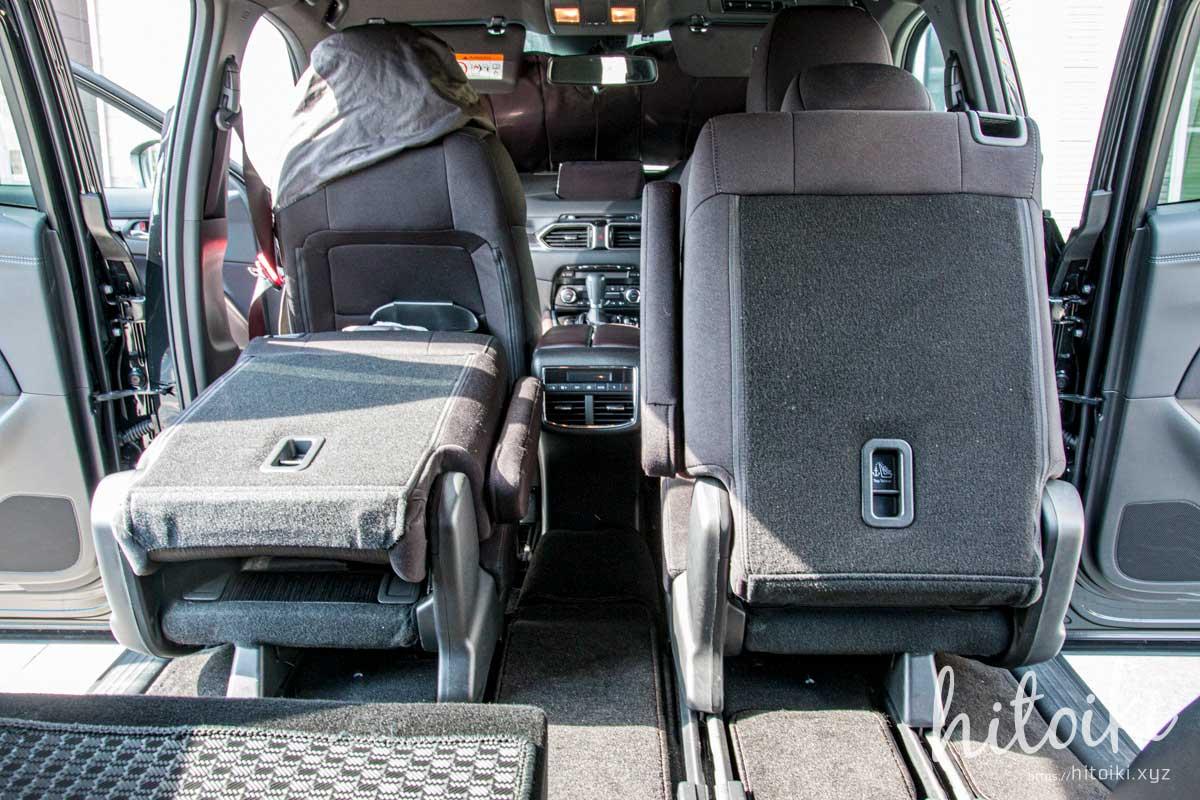 CX-8の快適性アップ!3列目の有効活用とは?車中泊や長距離ドライブに使えるテクニックをまとめた! mazda_cx8_cx-8_car_third_3row_img_9462