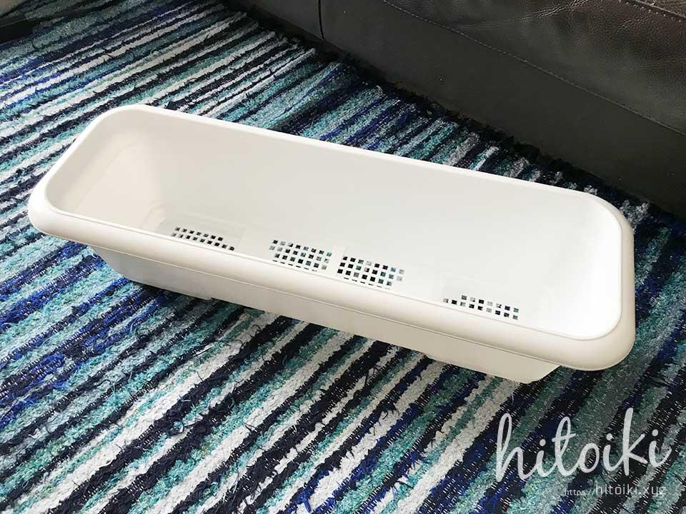 風呂場の水切りカゴに!園芸用プランターを活用! planter_img_1062