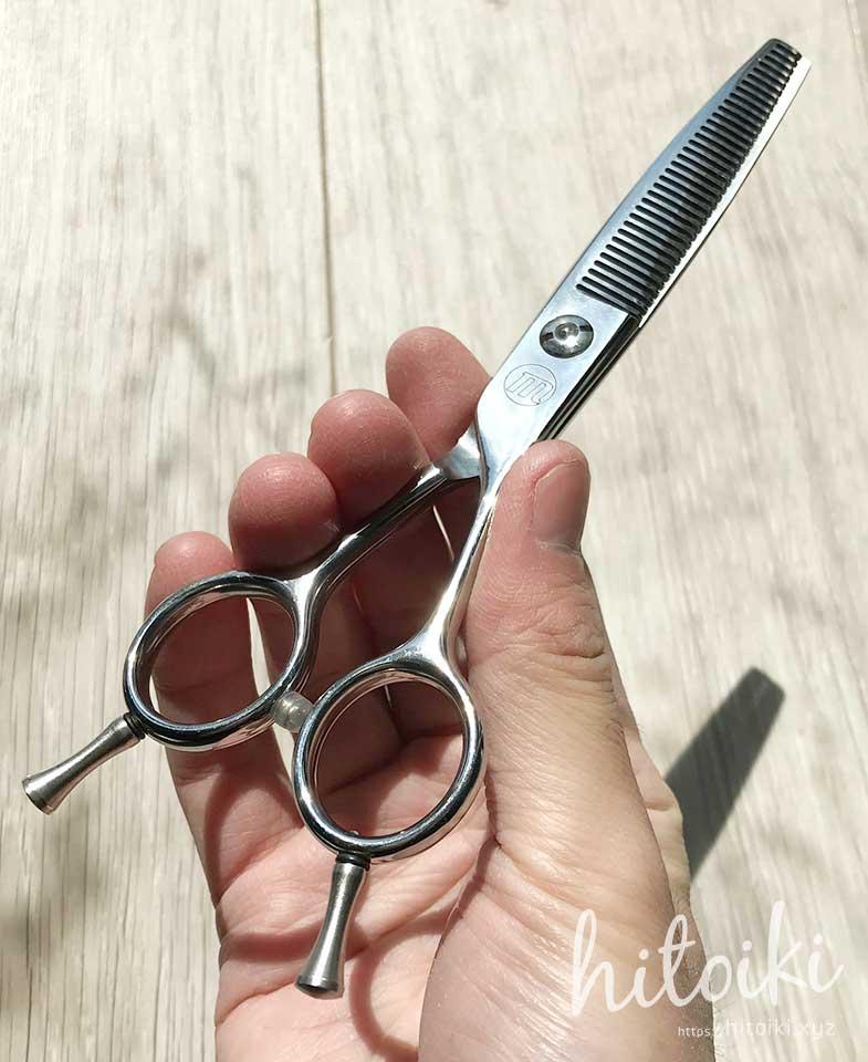 美容師もオススメ? スキ率15%程度のスキバサミ(セニングシザー) thinning_scissors_01