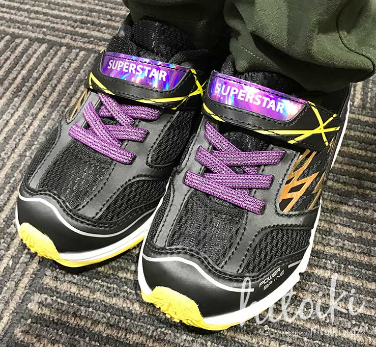 イオンで購入した激安の子供靴 aeon_kids_shoes_img_2829
