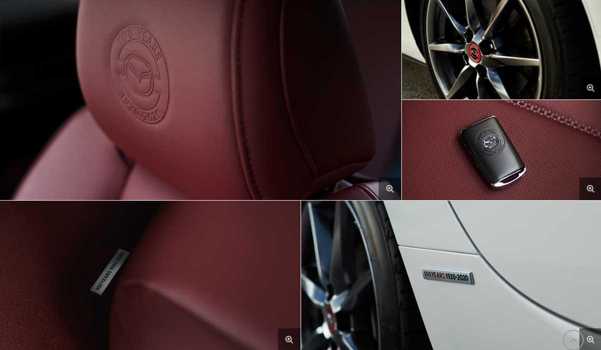 MAZDA CX-8に100周年特別記念車が登場!白×ワインレッドの内装がめちゃくちゃオシャレ! マツダCX8のナッパレザー mazdacx8_cx-8_100th_int_list