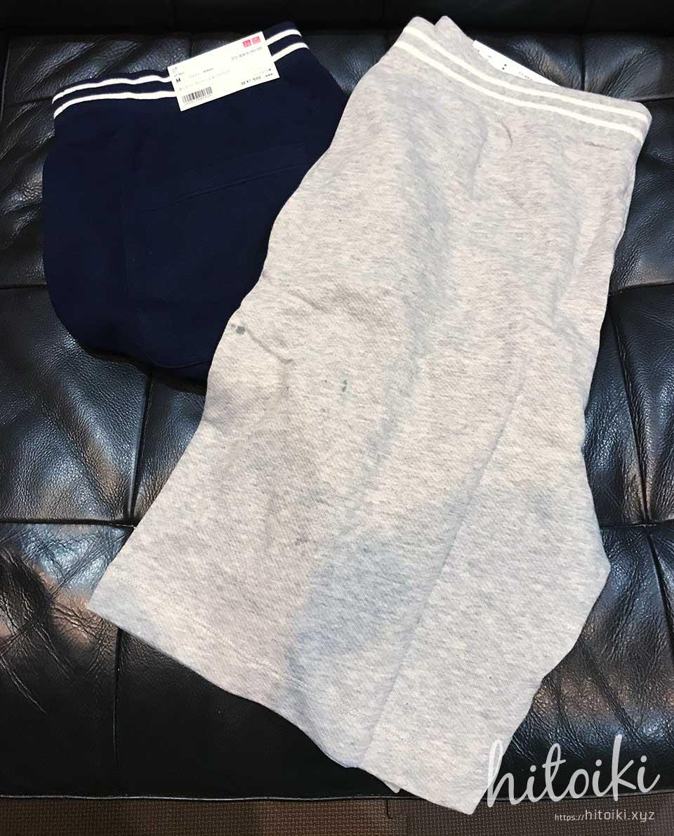夏の部屋着と外出着に、スウェット素材&ジャージ素材のハーフパンツ uniqlo_half-pants_img_3302