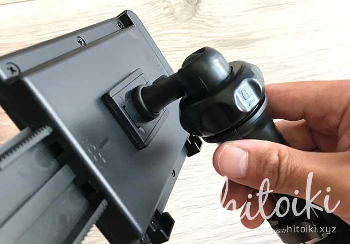 CX-8の後席用タブレットモニターホルダーにiKrossがおすすめ!10インチのFireHD10タブレットやiPadでも安定取付可能!評価・評判・レビューをまとめた! ikross_tablet-holder_img_3163