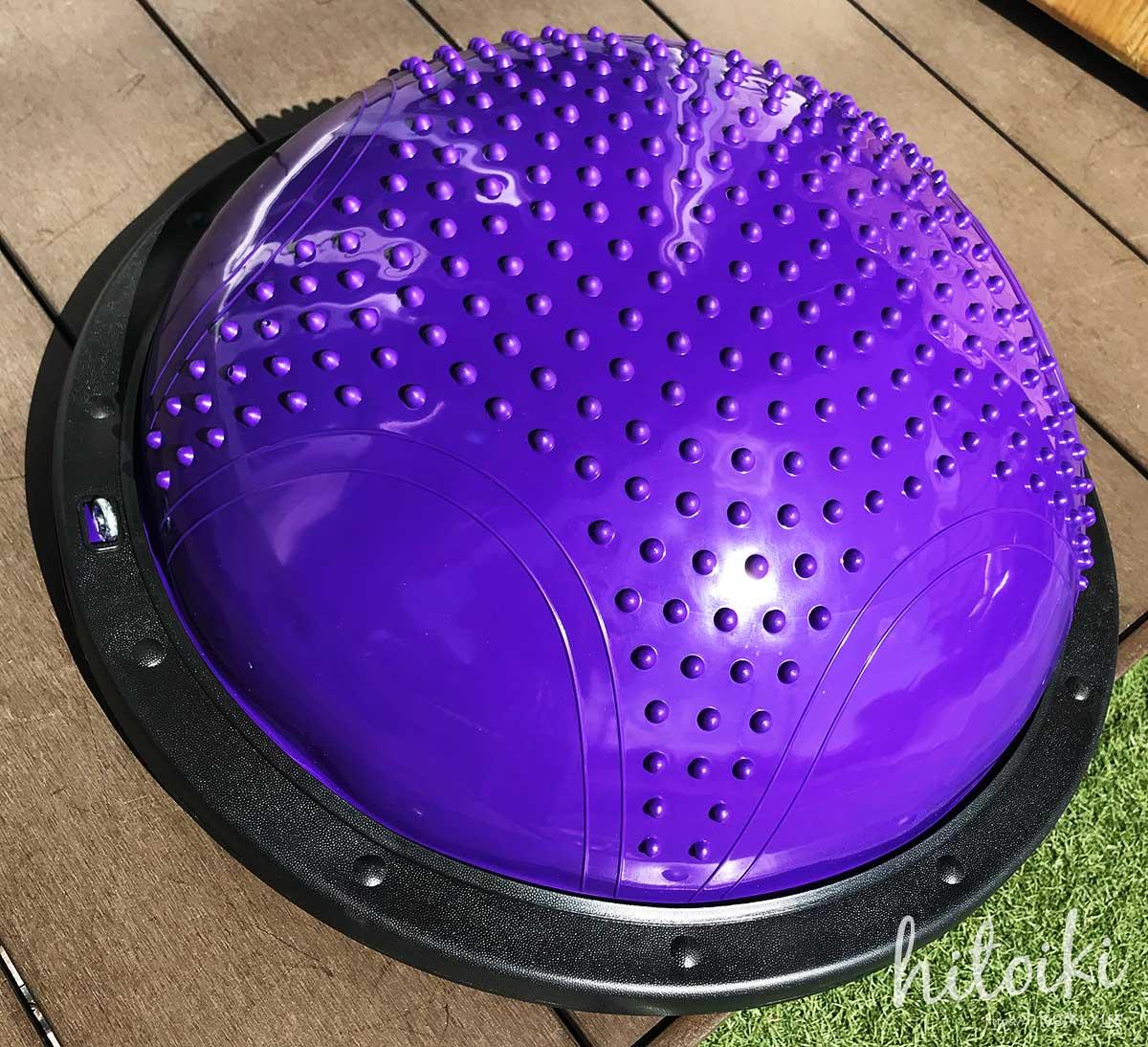 ボスボール風の半円型バランスボールでサーフィンやスノボーの室内トレーニングに! semicircular-balance-ball_img_3892