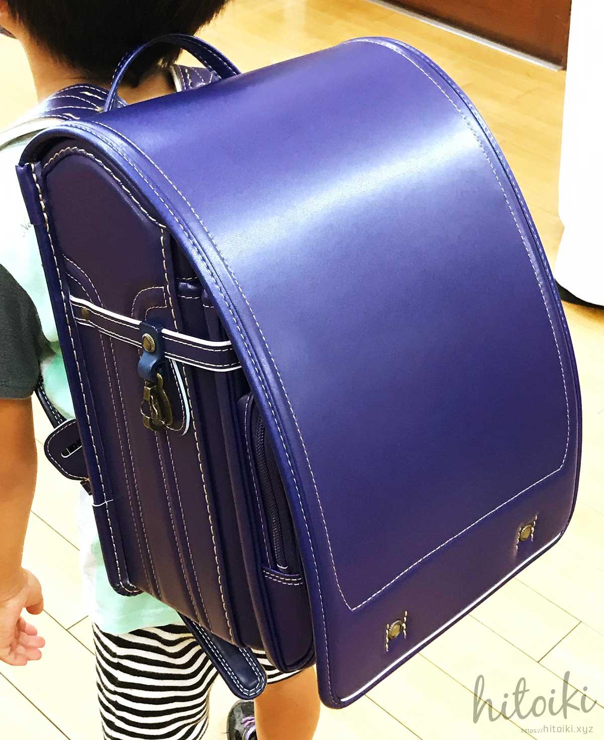 名古屋の老舗鞄店。村瀬鞄行の男の子用紫(パープル)のランドセル schoolbag_murasekabanko_img_3412