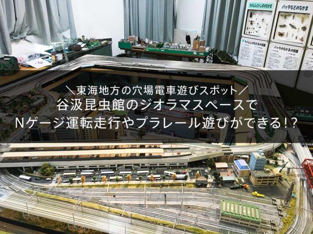 東海地方でジオラマやNゲージの新幹線車両の運転やプラレール遊びができる穴場スポット!谷汲昆虫館