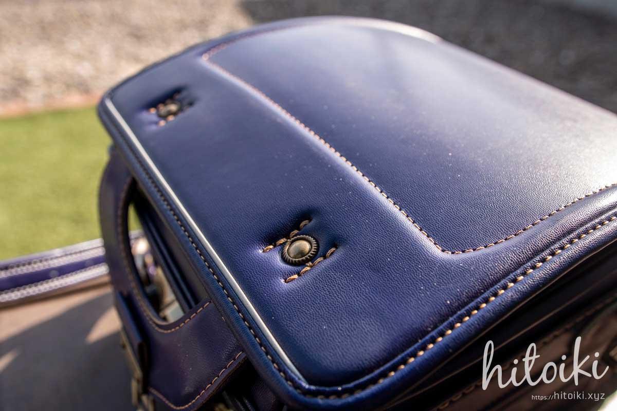 村瀬鞄行の男の子用ランドセルの紫色(パープル)が、おしゃれデザインだった! 金具デザインもおしゃれ murasekabanko_lb958p_school-bag_img_3446