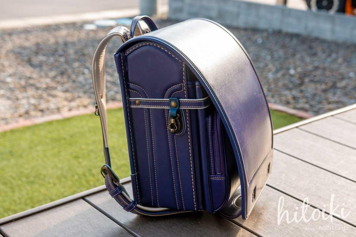村瀬鞄行の男の子用ランドセルの紫色(パープル)が、おしゃれデザインだった! murasekabanko_lb958p_school-bag_img_3448
